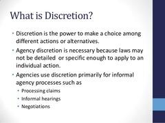 discretionary authority