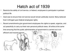 Hatch Act (1939)