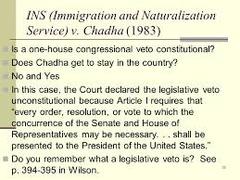 INS v. Chadha (1983)