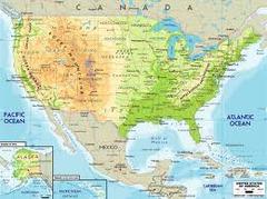 Map Skills Flocabulary Location Equator Prime Meridian - Us landforms map