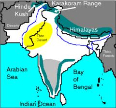 Where is the Thar Desert ?