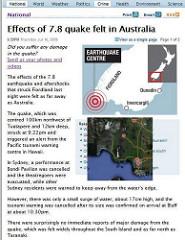 Richter magnitude scale (Richter scale)